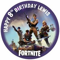 """7.5"""" Fortnite Not Official Birthday Edible Personalised Cake Topper"""