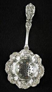 Reed & Barton Francis I Sterling Silver Over Cup Tea Strainer Spoon No Mono EUC