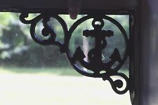 (4)pcs, Nautical Window Decor, Anchor Window Corner Shelf Bracket,cast iron,B-53