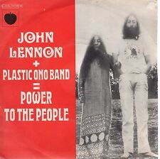 7inch JOHN LENNON + PLASTIC ONO BAND power to the people FRANCE  EX/ VG++