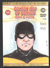 GOLDEN AGE OF COMICS HEROES & VILLAINS Breygent SDCC Sketch Card STEVEN MILLER 3