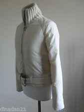 MISS SIXTY women's  puffer jacket, size S (10), cream, long sleeve, zipped