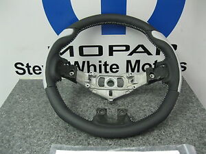 Dodge Challenger Charger Custom Leather Steering Wheel Silver Grips Stitch Mopar