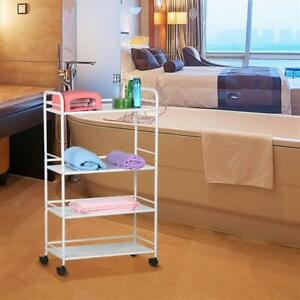 4 Shelf Large Salon Trolley Cart Beauty Spa Storage Equipment Rack