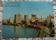 Retro Vintage Postcard: City Skyline from the Story Bridge, Brisbane, QLD