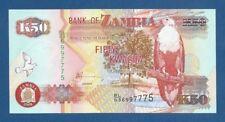 ZAMBIA -- 50 KWACHA ( 2008 ) -- UNC -- PICK 37g .