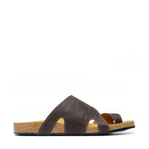 Vegan toe-loop vamp-wrap flat minimalist sandal organic breathable arch support