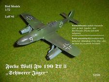 "Focke Wulf Fw 190 TL II ""Schwerer Jäger"" 1/72 Bird Models Mischbausatz / Mix kit"