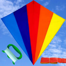 NEW 75cm 30-Inch Rainbow Kite long tail Outdoor fun Sports Toys diamond kites