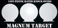 Steel Shooting Targets - New 10 Inch Round Knockovers -Action Pistol Plates 3pcs