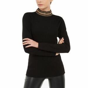 INC NEW Women's Chain-link Back-zip Mock Neck Sweater Top TEDO