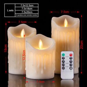 Luminara Flickering Moving Wick Flameless Pillar Candle Led Candles Remote
