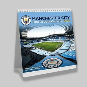 Manchester City Football Club Desk Easel 2022 Calendar Page-a-Month Tent MCFC