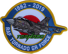 Royal Air Force Panavia Tornado GR Force 1982 to 2019 Shaped Embroidered Patch