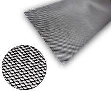 1x Black Aluminium Grille Grill Mesh Net Vent Bumper 5x3mm 100x40cm