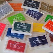 WellieSTR Set 15 Pcs Craft Ink Pad Korea Stamps Partner Diy Color,15 Color Craft