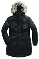 The North Face Downtown Parka Womens Black Fur Hood Goose Down Warm Coat $300
