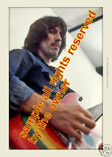 THE BEATLES  let it be period George Harrison 1969 playing  painted guitar