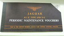 Complete Jaguar E Type periodic maintenance voucher book (all vouchers present!)