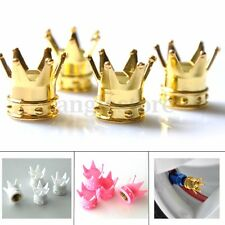 4PCS Crown Tire/Wheel Air Stem Valve Caps For Car Truck Motocycle Bicycle Rod US