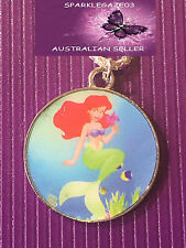 BRAND NEW 2017 DISNEYS BLUE LITTLE MERMAID WITH SILVER PLATED NECKLACE 62