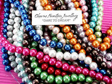 JEWELLERY WHOLESALE BULK BEADS GLASS PEARL 8mm X200pcs LOOSE SUIT MEMORYWIRE ETC