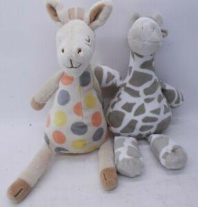 Lot of 2 Plush Giraffes One Hallmark and One Catalog Favorites