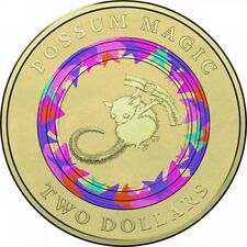Australian Two Dollar $2 - 2017 - POSSUM MAGIC Coloured coin - Vegemite - Mint
