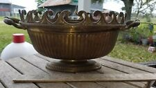 Vintage Mottahedeh Heavy Brass Centerpiece Bowl with Handles