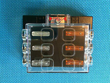 ATC / ATO MEDIUM 6 WAY COVERED FUSE PANEL BLOCK WITH FUSES