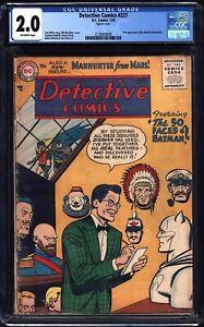 DETECTIVE COMICS 227 CGC 2.0 1956 JACK MILLER BATMAN MORTIMER MARTIAN MANHUNTER