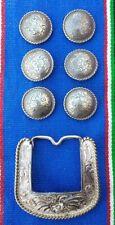 Vintage Conchos Belt Buckle Crafts Leather Work