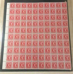 #R658 5 cent Documentary internal revenue stamps full mint sheet of 100 MNH OG