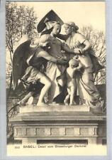 AK Basel, Strassburger Denkmal, Detail