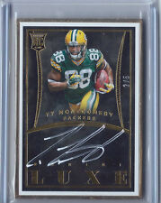 2015 PANINI LUXE TY MONTGOMERY AUTO # /5 SSP GOLD FRAMED GREEN BAY PACKERS RC