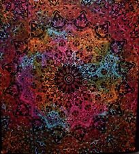Large INDO PSYCHEDELIC INDIAN STAR MANDALA Boho Hippy Tapestry Wall Hanging