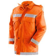 Giubbotto da lavoro catarifrangente impermeabile colore arancione varie taglie