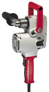 "Milwaukee 1675-6 7.5 Amp 1/2""  Hole Hawg Heavy-Duty Corded Right Angle Drill NEW"