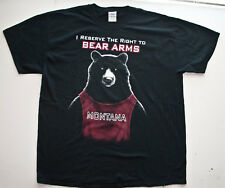 MONTANA I RESERVE THE  RIGHT TO BEAR ARMS T Shirt TEE Black XLarge Cotton Mens