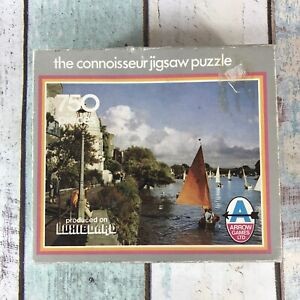 Vintage Arrow Games Jigsaw Puzzle Connoisseur 750 Pieces River Sailing Boats