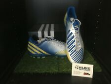Adidas Predator LZ TRX AG - White/Yellow/Blue UK 10, US 10.5, EU 44 (2/3)