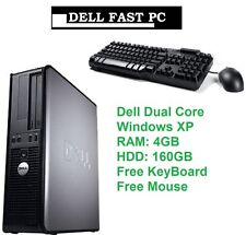 FAST DELL OPTIPLEX DESKTOP COMPUTER 4GB 160GB WINDOWS XP Keyboard Mouse