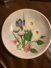 Salt Marsh Pottery - Dartmouth, Mass. Lovely Flowered bowl dish 8