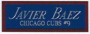 JAVIER BAEZ CUBS NAMEPLATE FOR AUTOGRAPHED Signed Baseball Display CUBE CASE