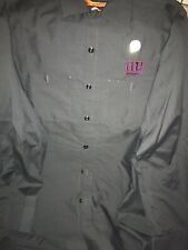 RED KAP WORK SHIRT NFL NY GIANT MEN NWT BLUE MED