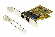 Exsys Ex-6072-4k - PCI-Express tarjeta de red dual Ethernet 1gigabit LAN