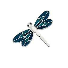 Turquoise Dragonfly Brooch Silver Plated Brand New Gift Packaging