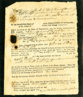 US Brooklyn Connecticut 1799 Court Summons Documents