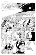New Gods # 27 original comic art page - Rick Hoberg (Lightray and Metron)