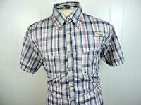 "Columbia Mens Button Front Short Sleeve Vented Fishing Shirt Plaid ""B"""